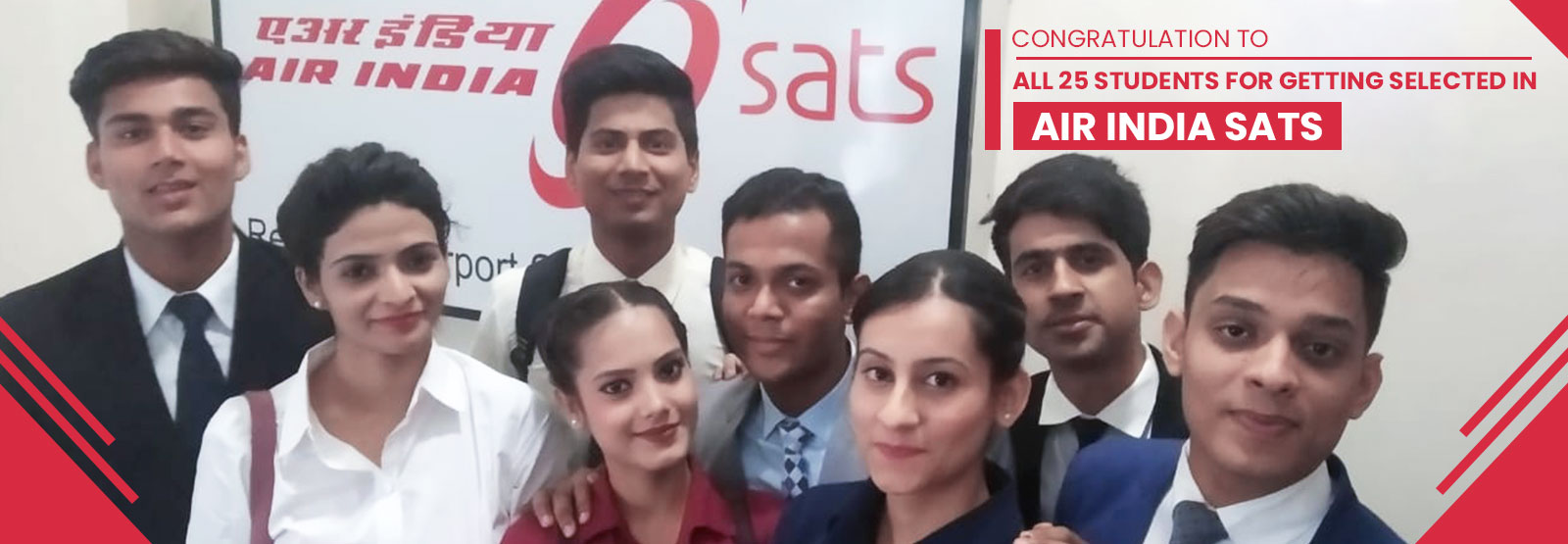 Skylark Institute's 25 Students got Placed in Air India