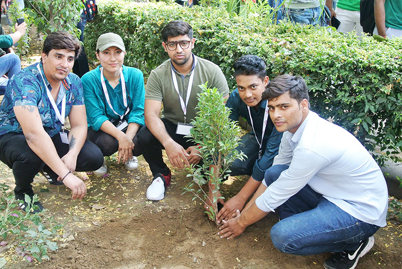 Life at Skylark - our Students planting saplings