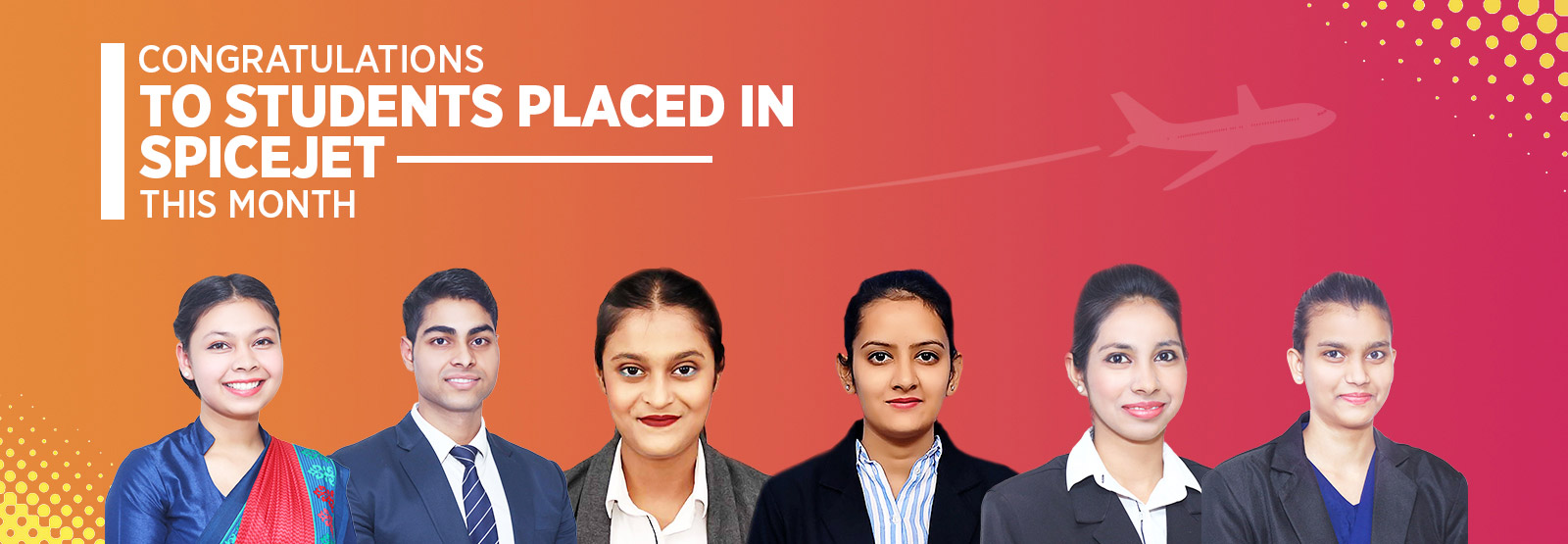 Congratulation to our students placed in SpiceJet - Skylark Institute