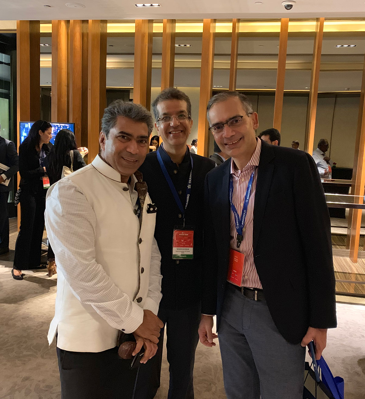 Our Directors Vipan Sharma & Sudhir Kochhar with Deep Kalra, CEO, Make My Trip at IATA Training at IATA Global Training Partner Conference held in New Delhi