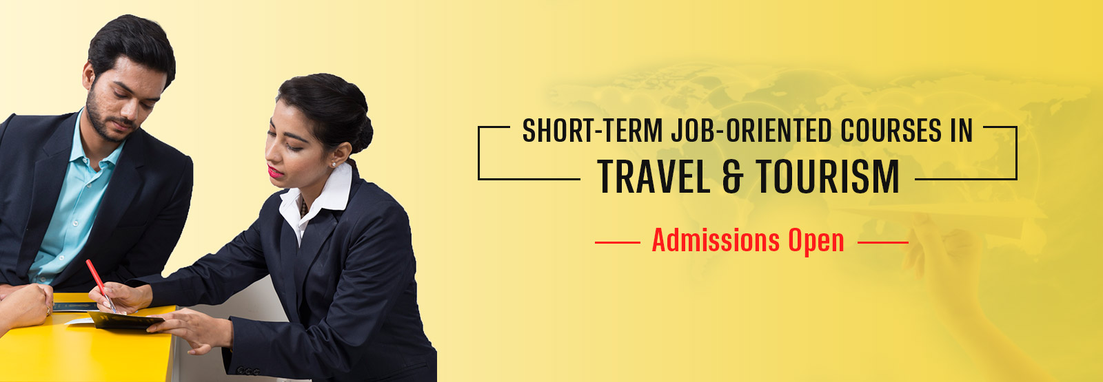 Short-term Travel and Tourism Courses banner