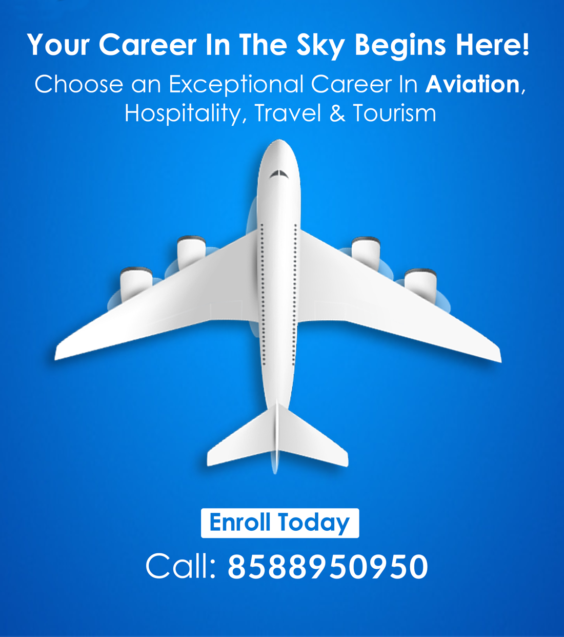Choose an exceptional career in Aviation, Travel and Tourism Sector