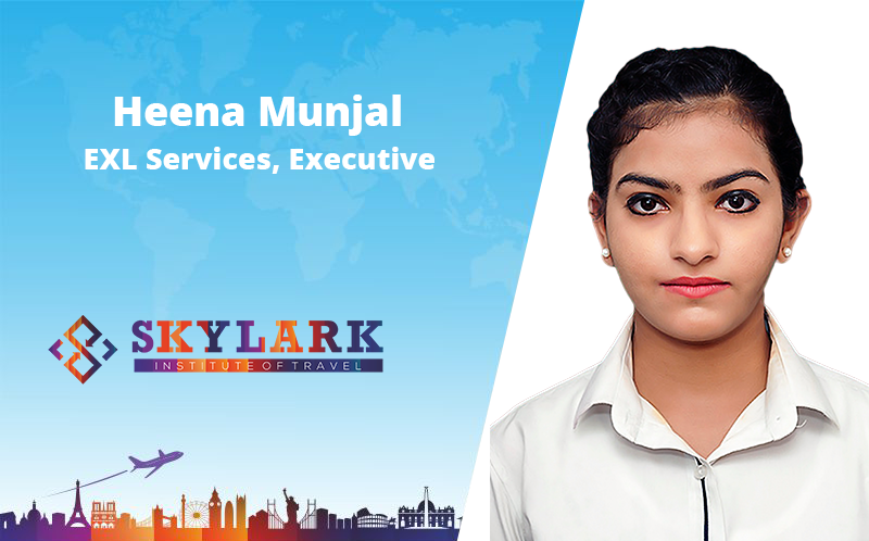 Heena Munjal - Testimonial Skylark Institute of Travel