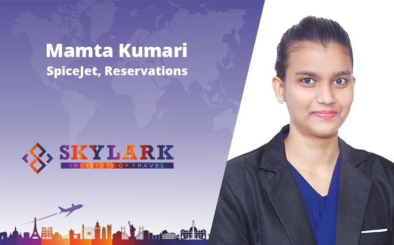 MAmta Kumari - Testimonial Skylark Institute of Travel